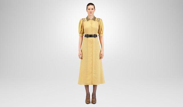 DUCHESSE SILK LUREX DRESS