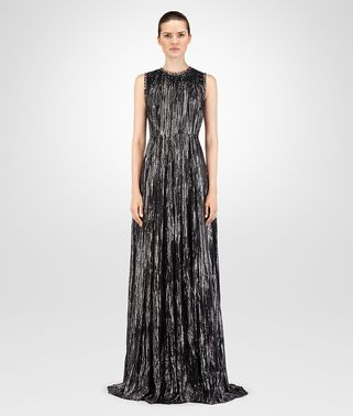 NERO SILK JACQUARD LONG DRESS