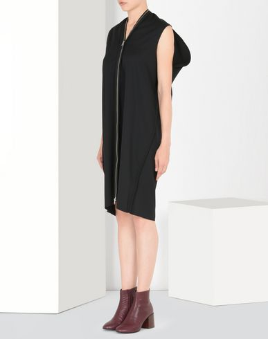 MM6 by MAISON MARGIELA Zip-up wool gabardine dress 3/4 length dress D f