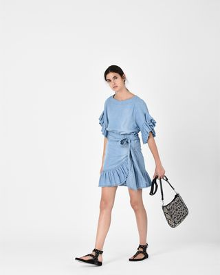 ISABEL MARANT ÉTOILE SHORT DRESS Woman LELICIA chambray dress r