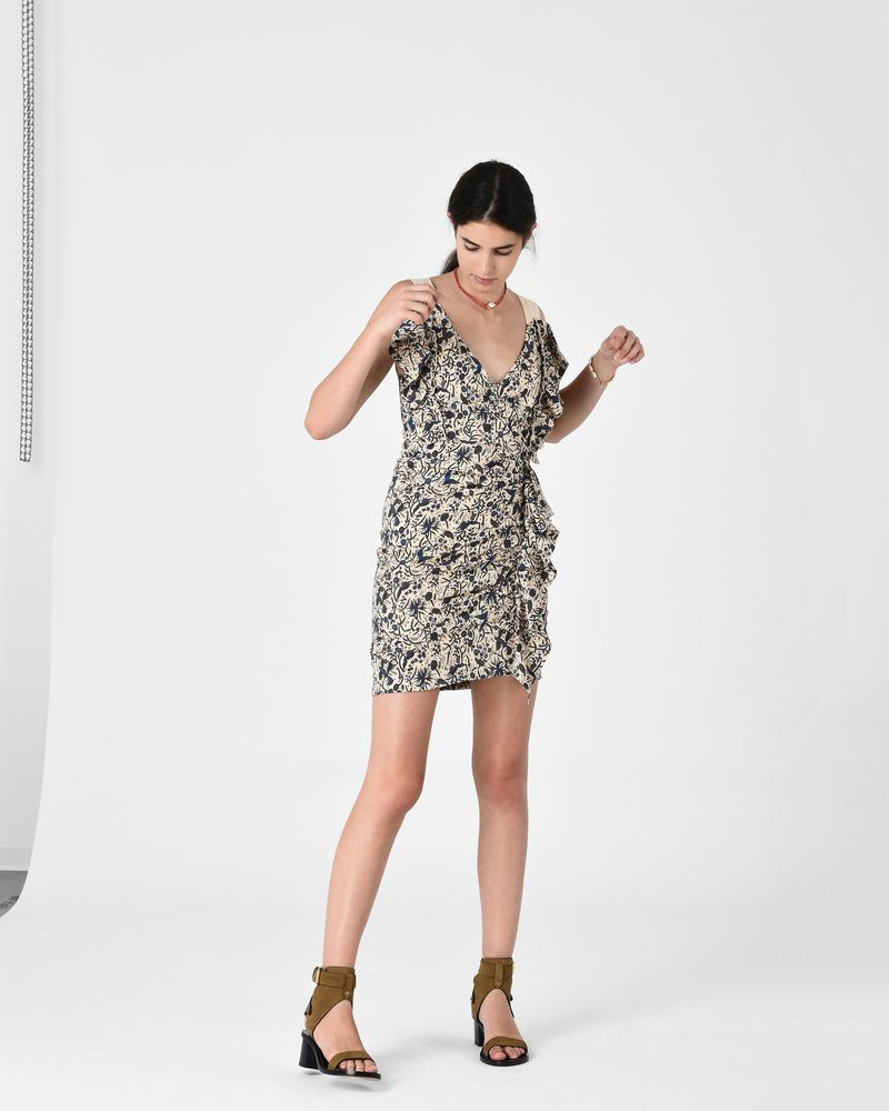 TOPAZ printed linen dress ISABEL MARANT ÉTOILE