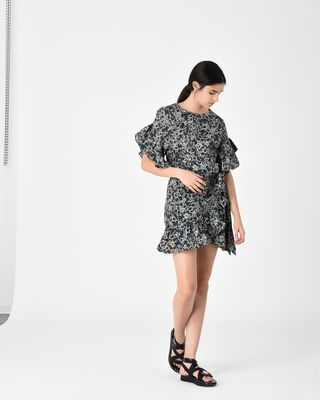 DELICIA short printed dress