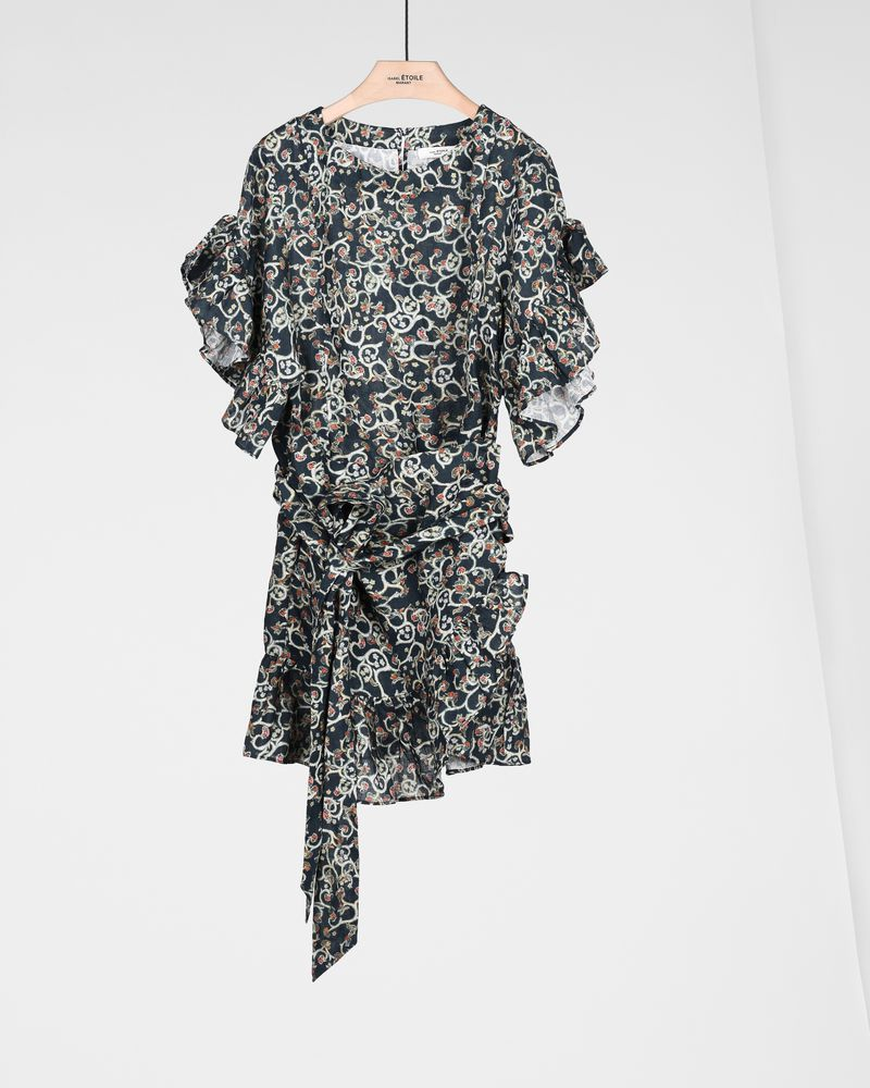 DELICIA short printed dress ISABEL MARANT ÉTOILE