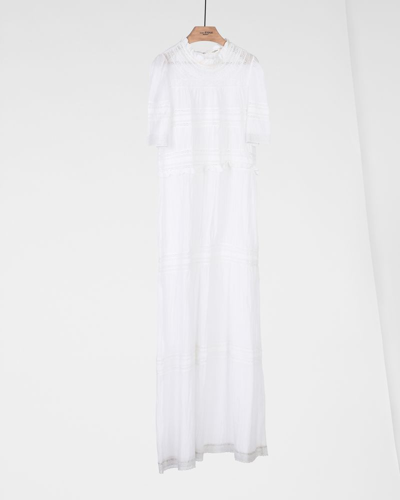 VEALY embroidered long dress ISABEL MARANT ÉTOILE