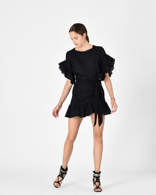 ISABEL MARANT ÉTOILE SHORT DRESS Woman DELICIA ruffle dress r
