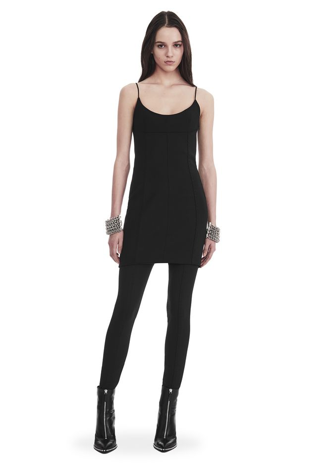 ALEXANDER WANG new-arrivals TAILORED MINI DRESS WITH  BARTACK DETAIL