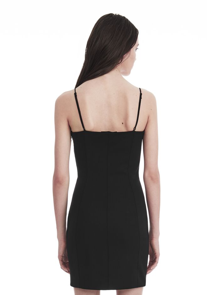 ALEXANDER WANG TAILORED MINI DRESS WITH  BARTACK DETAIL 短款连衣裙 Adult 12_n_r