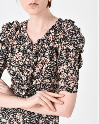 ISABEL MARANT SHORT DRESS D BRIZIA floral dress r