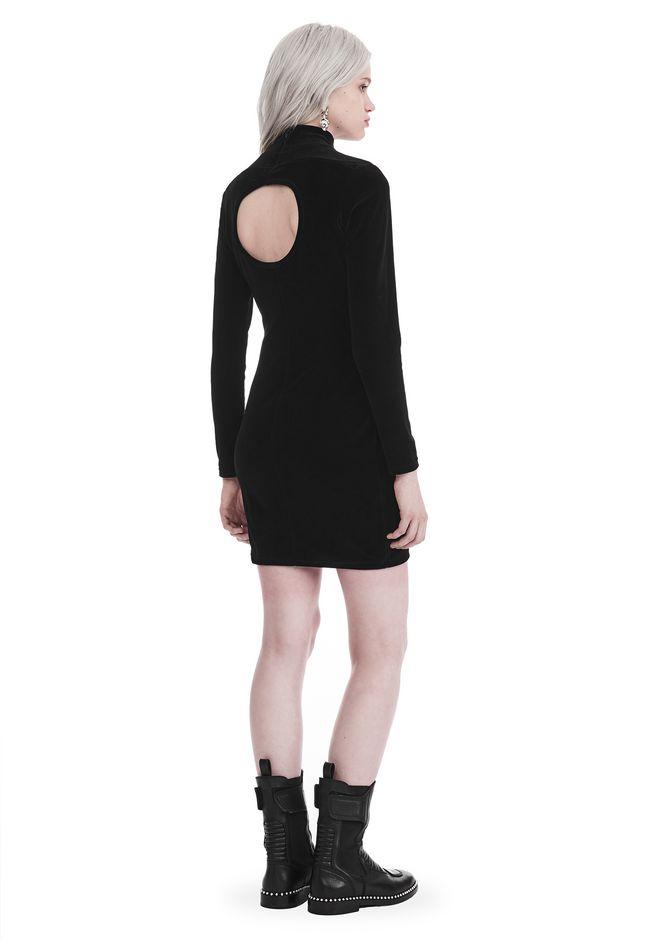 T by ALEXANDER WANG Short Dresses Women LONG SLEEVE VELOUR TURTLENECK DRESS