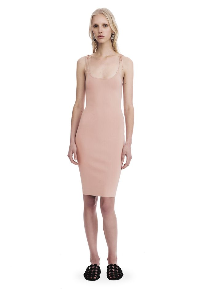 T by ALEXANDER WANG new-arrivals-t-by-alexander-wang-woman MIDI TANK DRESS WITH TIE DETAILS