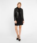 KARL LAGERFELD Silk Ruffle Plastron Dress 8_d