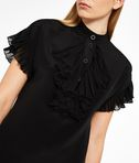 KARL LAGERFELD Silk Ruffle Plastron Dress 8_e