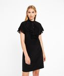 KARL LAGERFELD Silk Ruffle Plastron Dress 8_f