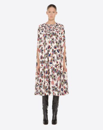 VALENTINO Printed dress D NB3VADQ13EB E34 r
