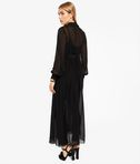 KARL LAGERFELD Ikonik Silk Maxi Trench Dress 8_r