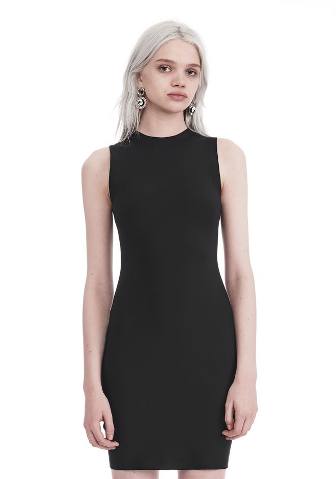 T by ALEXANDER WANG Short Dresses COMPACT STRETCH MINI DRESS