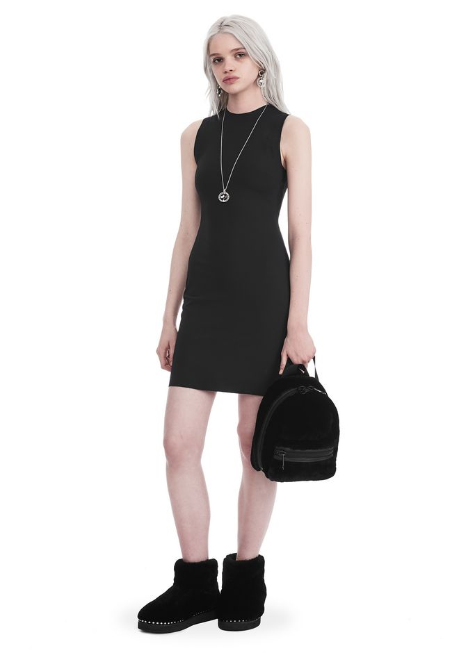 T by ALEXANDER WANG Short Dresses Women COMPACT STRETCH MINI DRESS