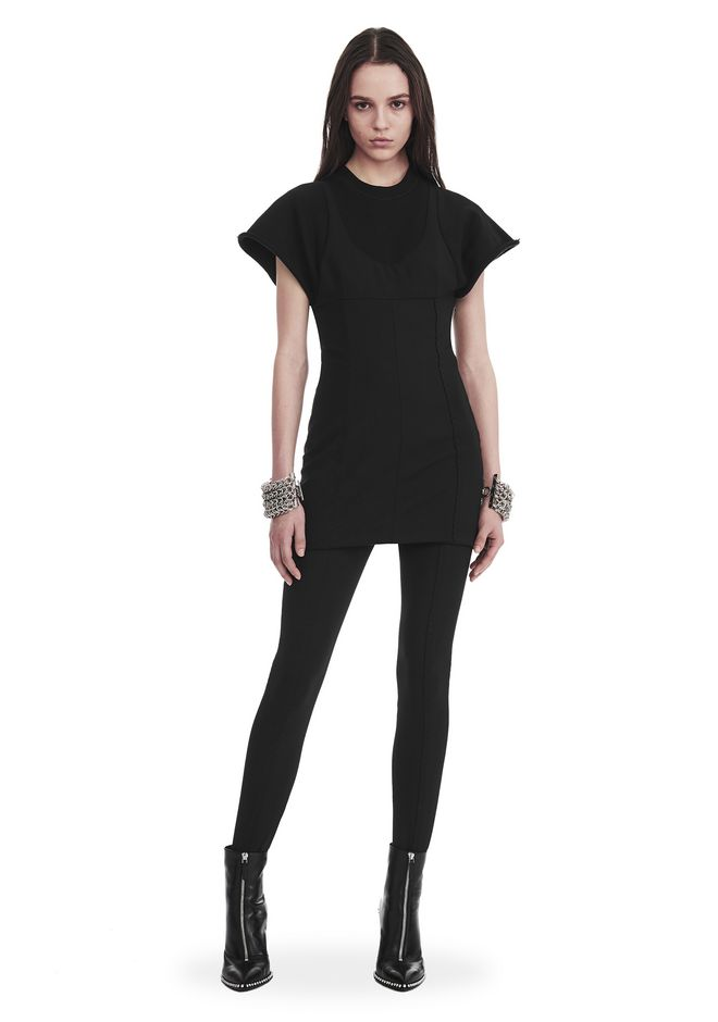 ALEXANDER WANG new-arrivals HYBRID SWEATSHIRT MINI DRESS