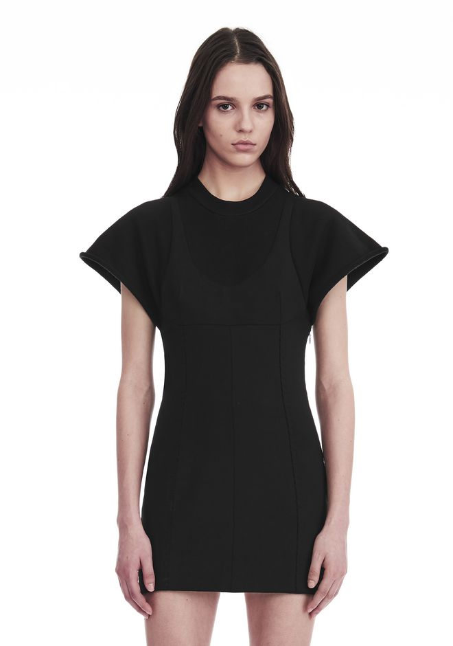 ALEXANDER WANG HYBRID SWEATSHIRT MINI DRESS 短款连衣裙 Adult 12_n_r