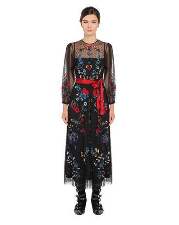 REDValentino NR0VA5L01GK 0NO Embroidered dress Woman f