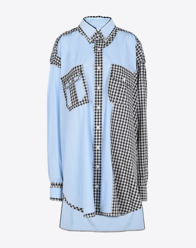 MAISON MARGIELA Décortiqué cotton shirt dress Short dress D f