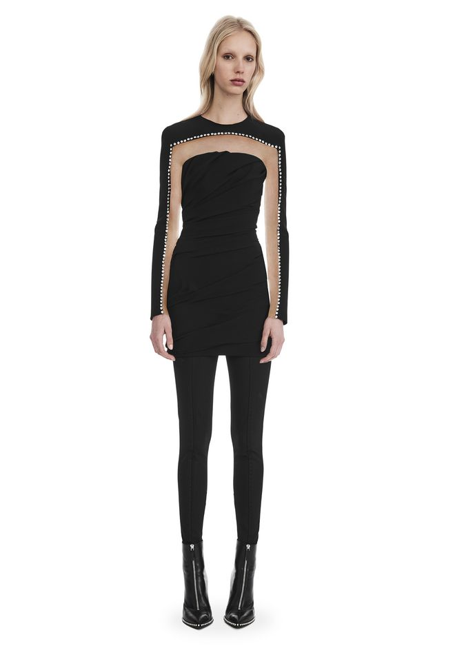 ALEXANDER WANG Short Dresses DRAPED LONG SLEEVE MINI DRESS