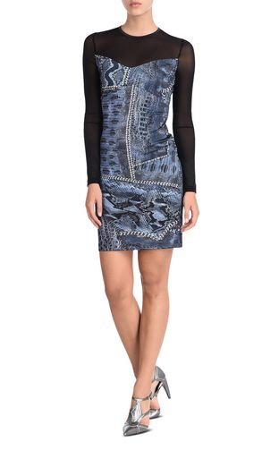 JUST CAVALLI Leather Jacket Woman Leather jacket with metal eyelets f