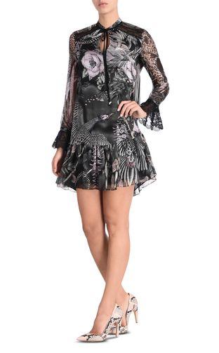 JUST CAVALLI Long dress D Long dress in Chain Reaction print r