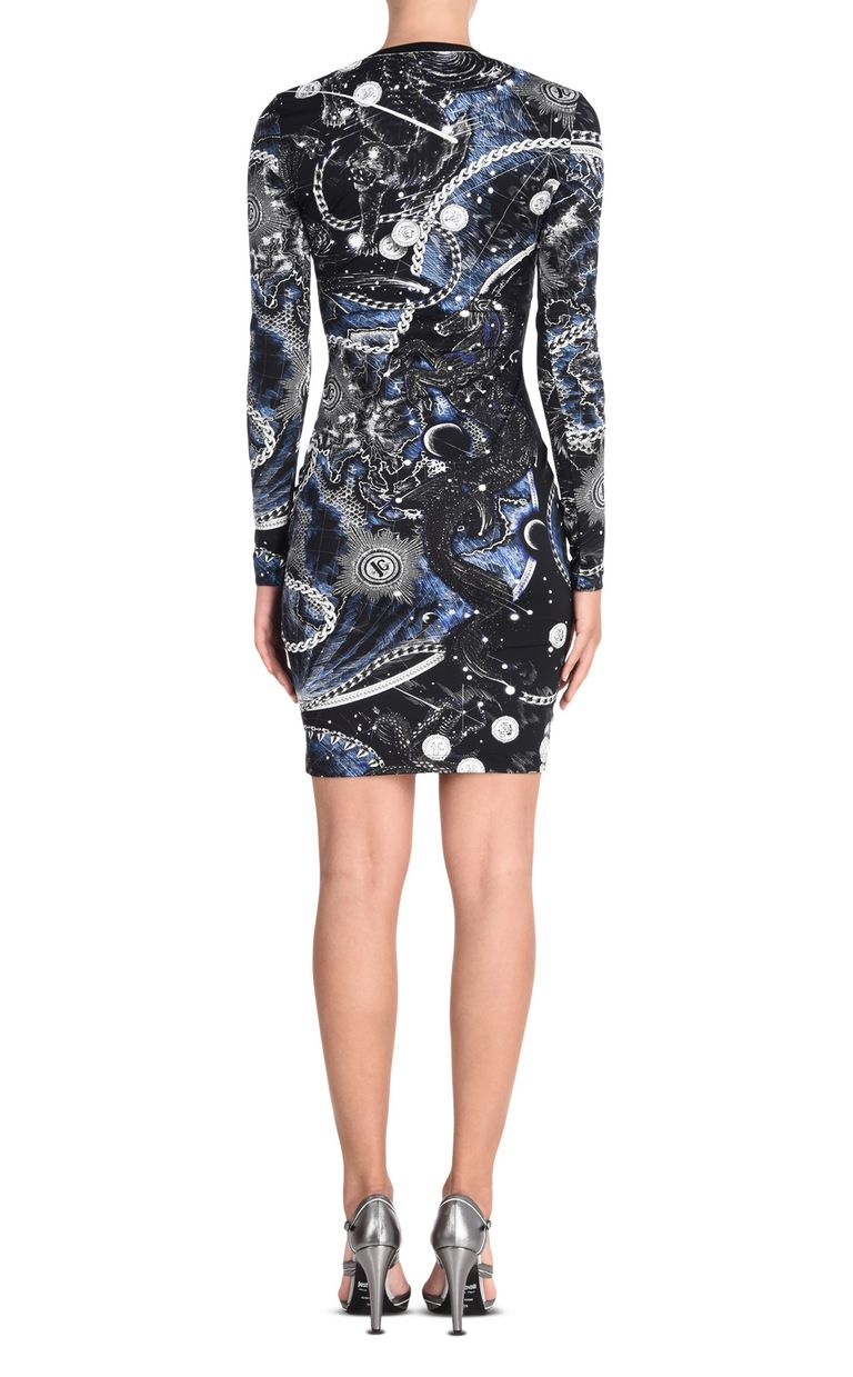 JUST CAVALLI Long-sleeved Chain Reaction print dress Dress [*** pickupInStoreShipping_info ***] d