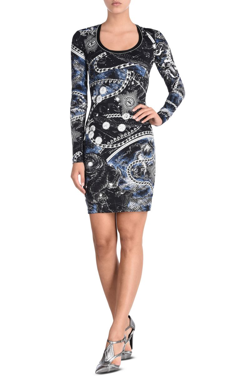 JUST CAVALLI Long-sleeved Chain Reaction print dress Dress [*** pickupInStoreShipping_info ***] f