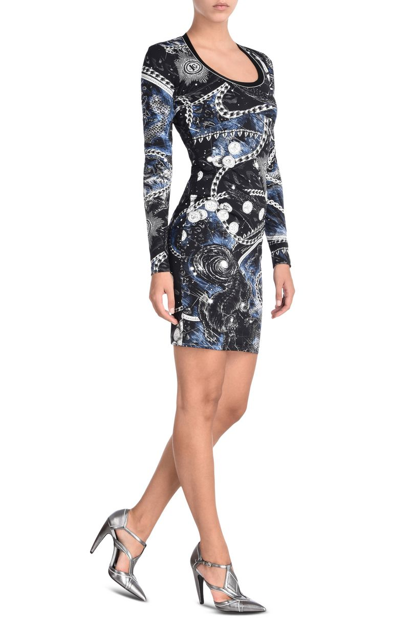 JUST CAVALLI Long-sleeved Chain Reaction print dress Dress [*** pickupInStoreShipping_info ***] r