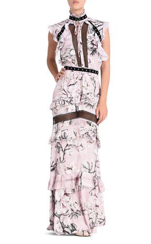 JUST CAVALLI Long dress D Long Magnolia Of My Heart dress f