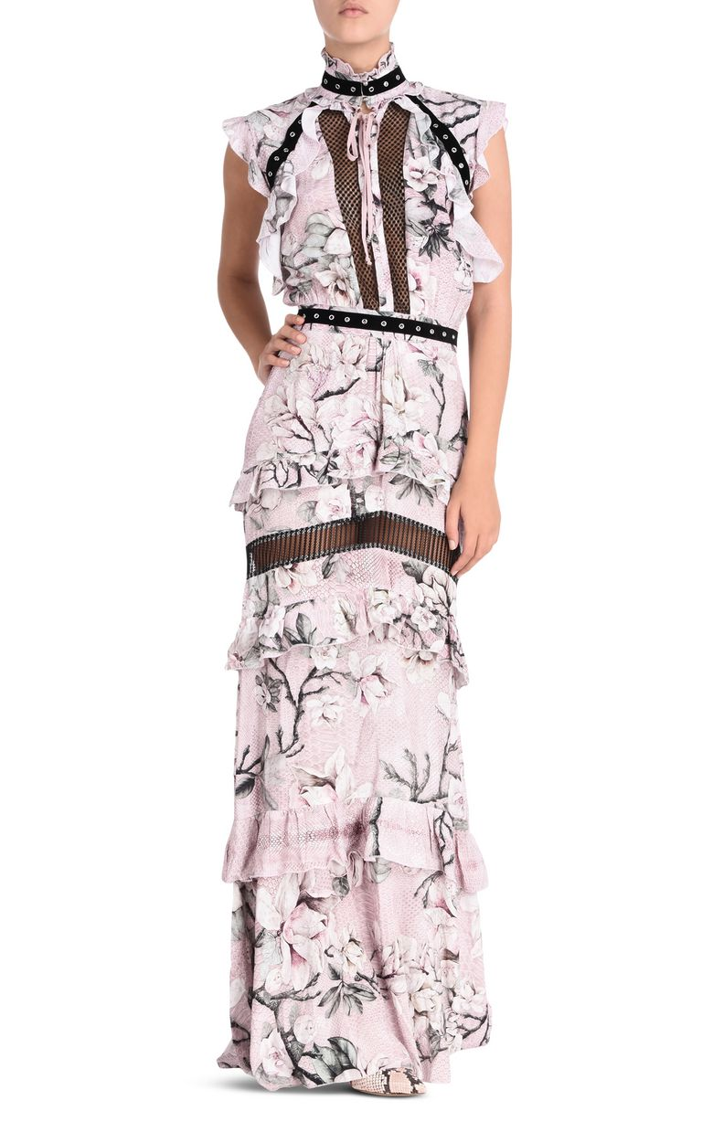 JUST CAVALLI Long Magnolia Of My Heart dress Long dress D f
