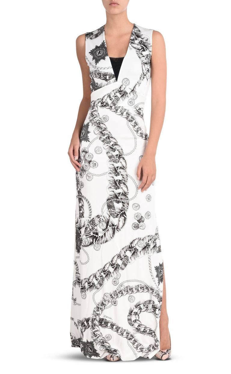 JUST CAVALLI Long dress in Chain Reaction print Long dress Woman r