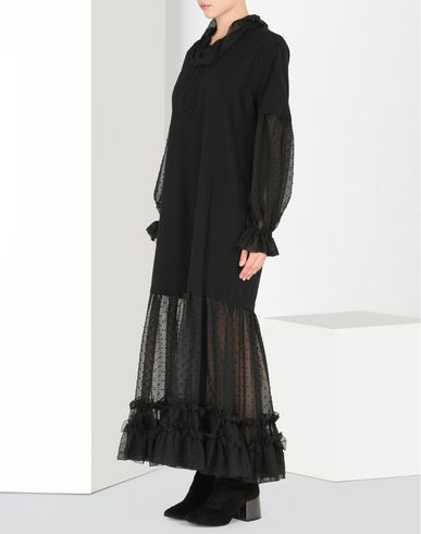 MM6 by MAISON MARGIELA Jersey & chiffon T-shirt dress Long dress D f