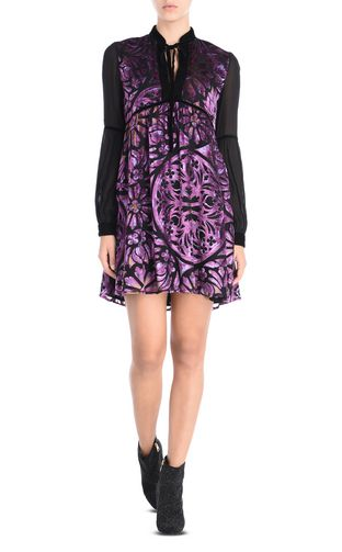 JUST CAVALLI Short dress D Dress with laced neckline f
