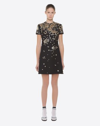 VALENTINO Dress D Fireworks Embroidered Dress r