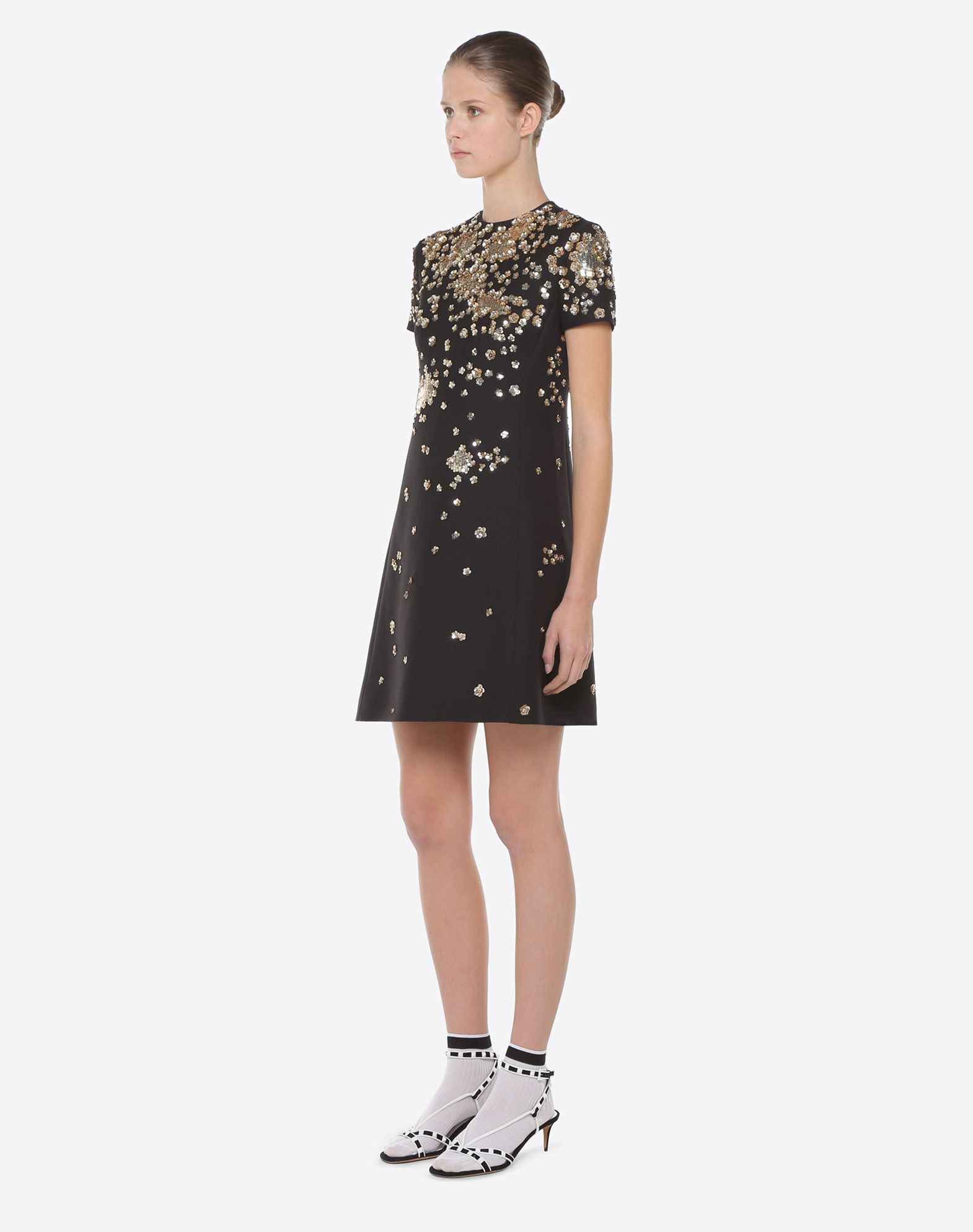VALENTINO Embroidered crepe couture dress Embroidered dress D d