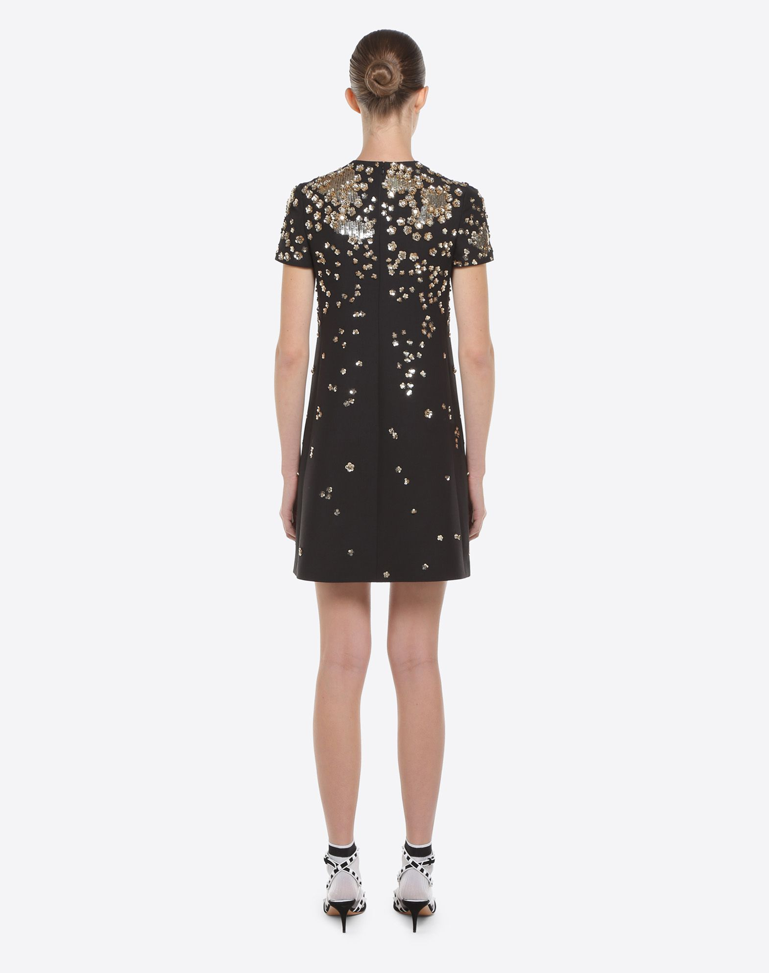 VALENTINO Embroidered crepe couture dress Embroidered dress D e
