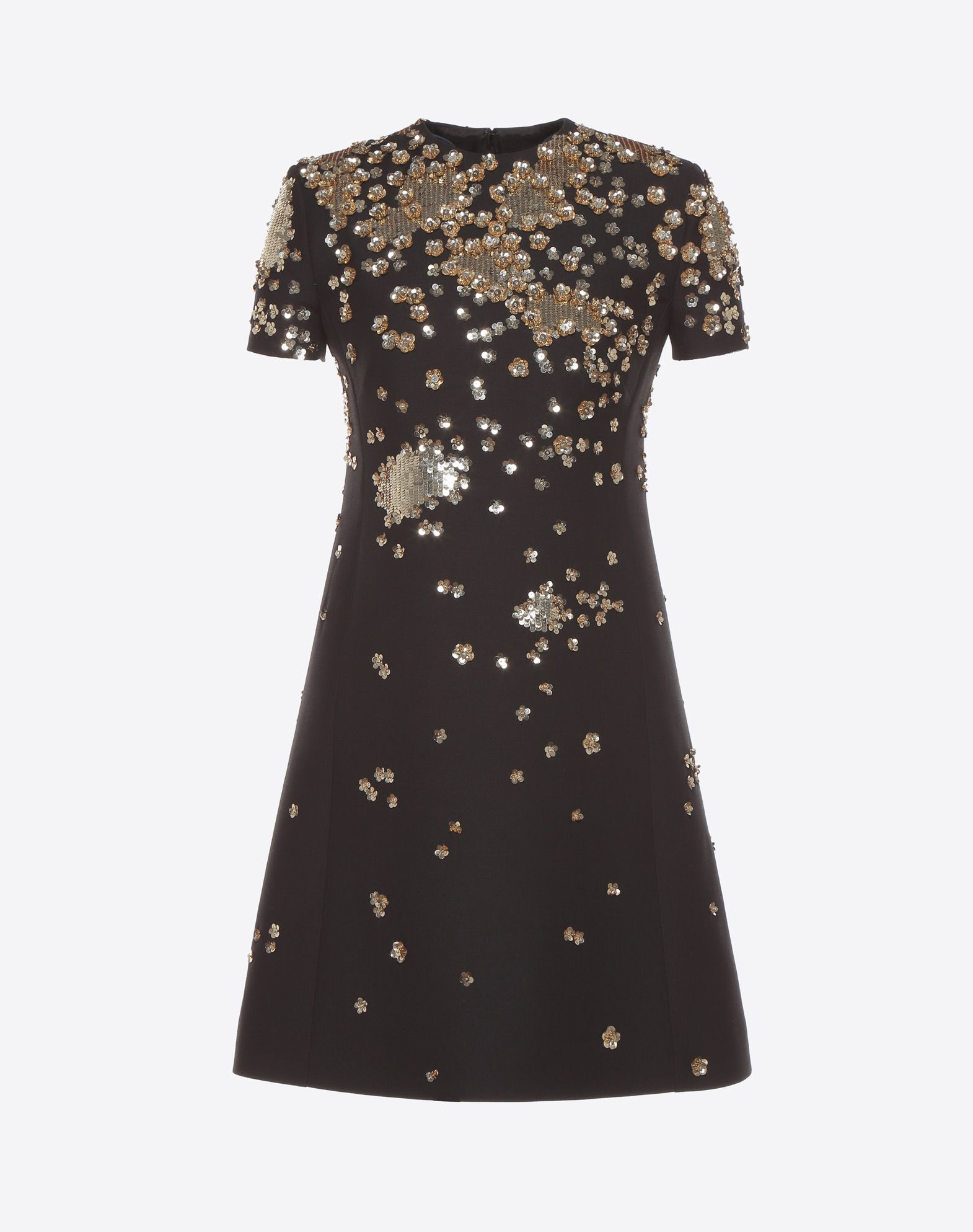 VALENTINO Embroidered crepe couture dress Embroidered dress D f