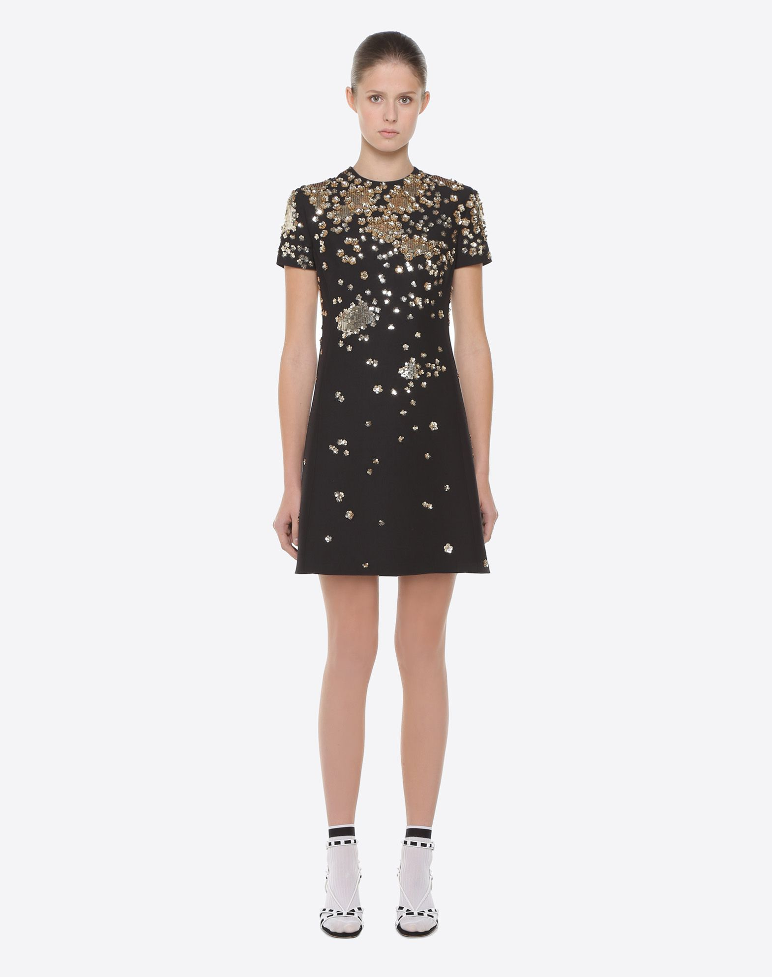VALENTINO Embroidered crepe couture dress Embroidered dress D r