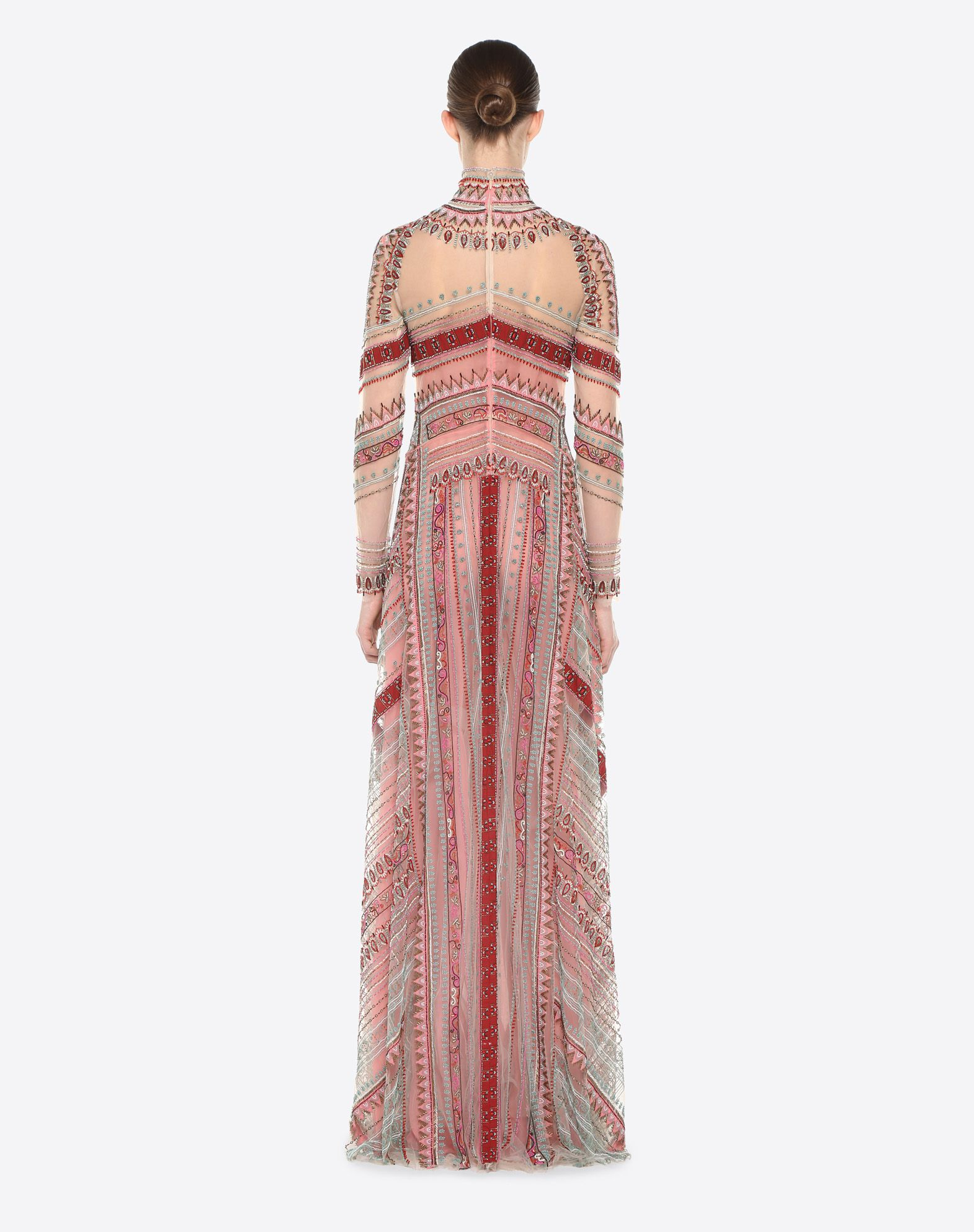 VALENTINO Embroidered evening dress Gown D e