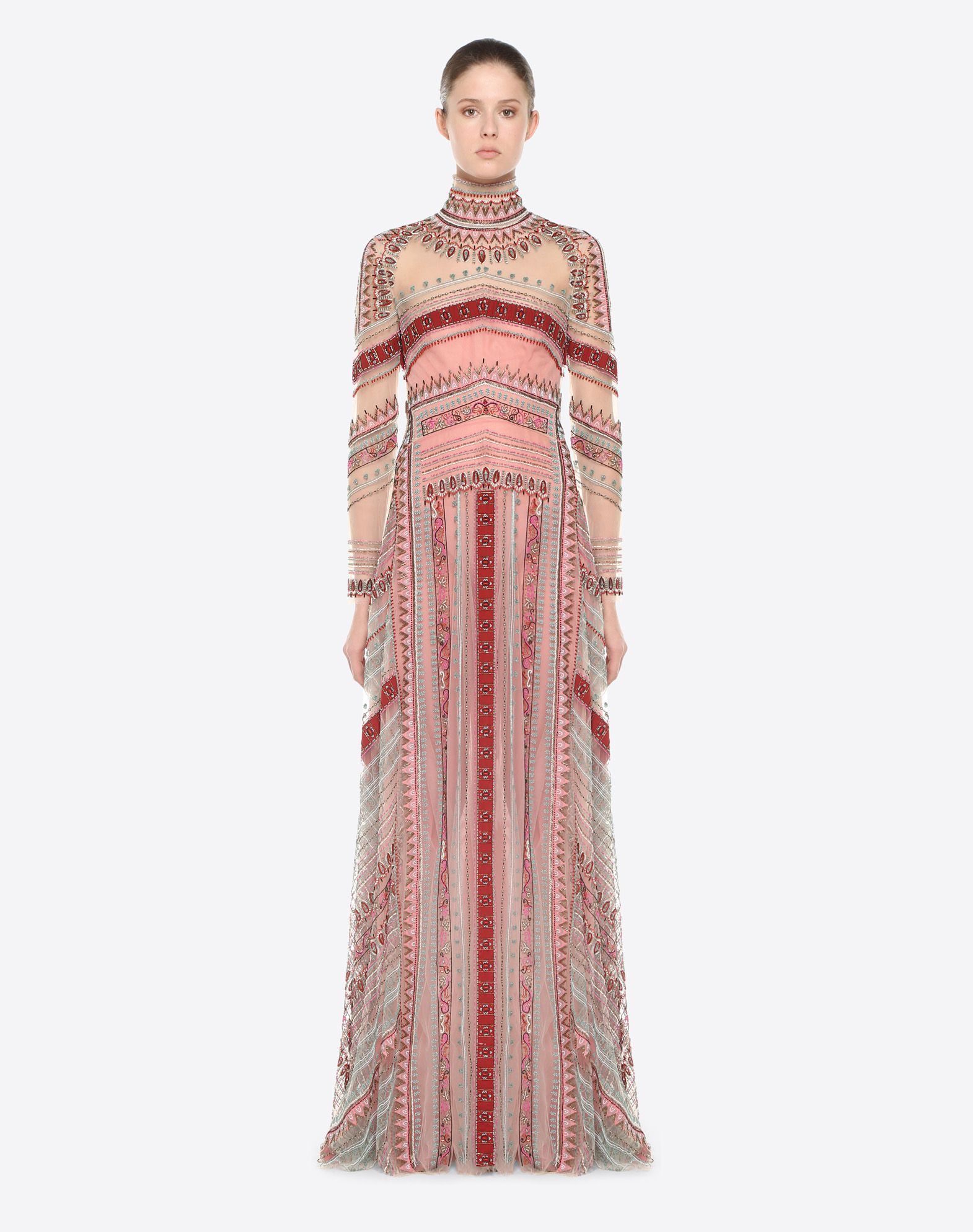 VALENTINO Embroidered evening dress Gown D r