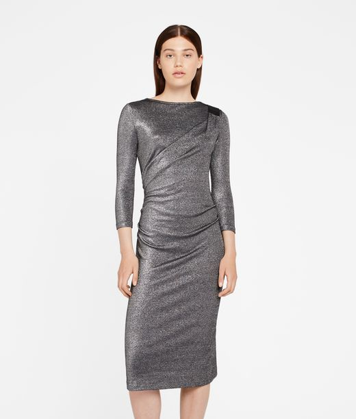 KARL LAGERFELD Sparkling Lurex Dress 12_f