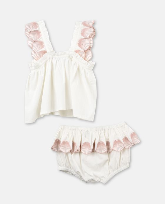 Nena emroidery Dress Conchiglie