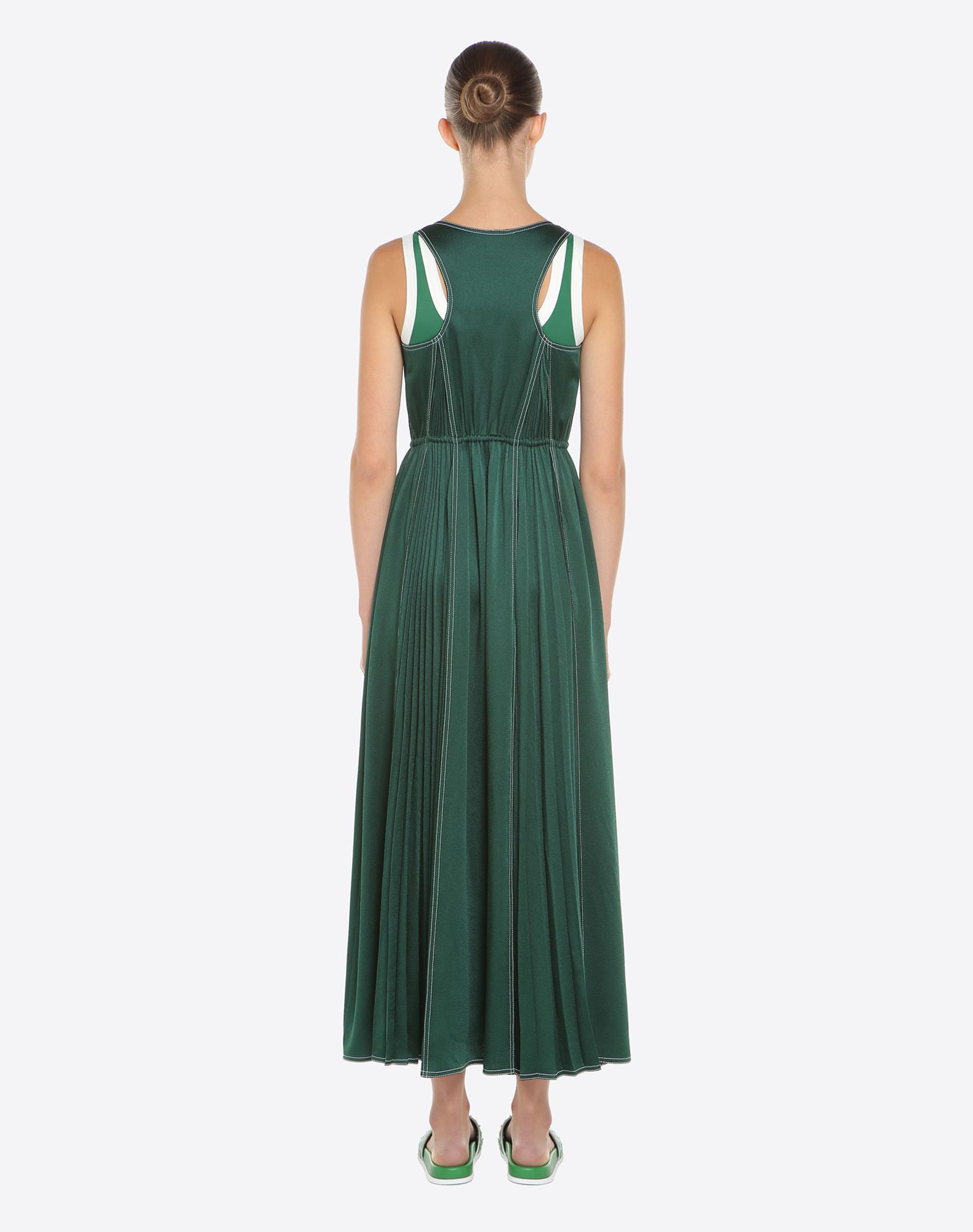 VALENTINO Hammered satin dress Dress D e