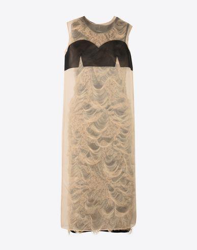 MAISON MARGIELA Robe mi-longue Femme Robe droite en jacquard tricoté  f