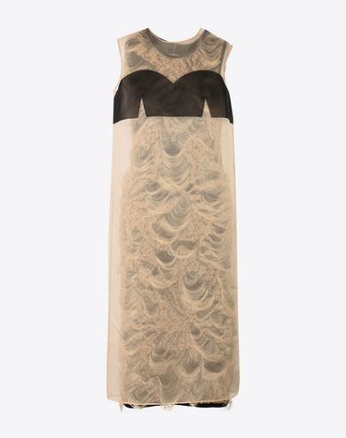 MAISON MARGIELA Knit jacquard shift dress  3/4 length dress D f