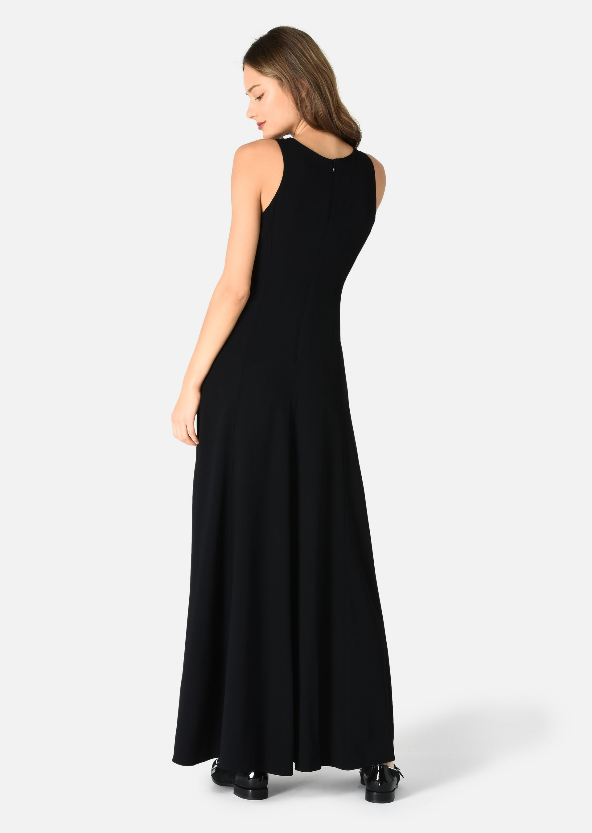 LONG CADY DRESS WITH FLORAL CORDON EMBROIDERY for Women | Emporio ...