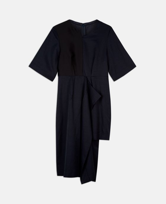 Asymmetrisch geschnittenes Kleid Neema in Tintenblau